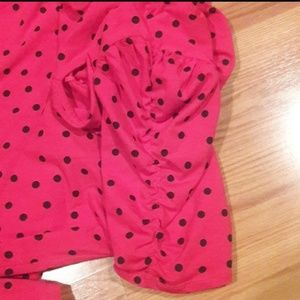 Forever 21 Tops - Forever 21 plus size red top black polka dots